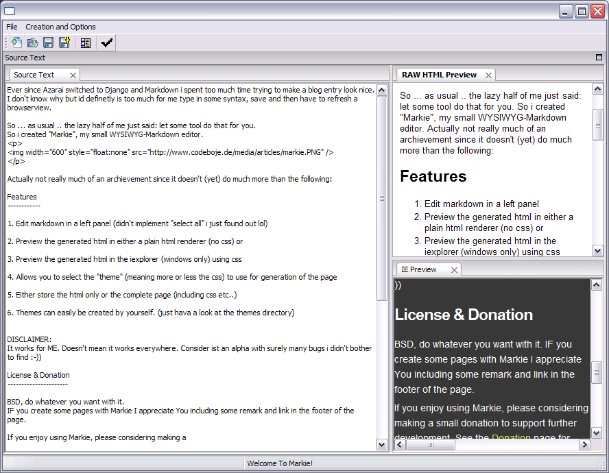 Markie - A Simple Markdown Editor - codeboje